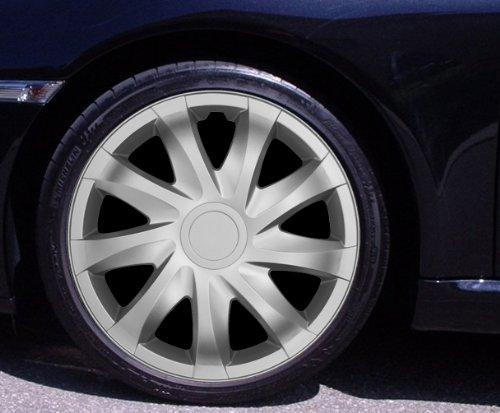 Radkappen DRACO silber 15 Zoll Fiat 500, Bravo, Brava, Doblo, Grande Punto, Evo, Idea, Linea