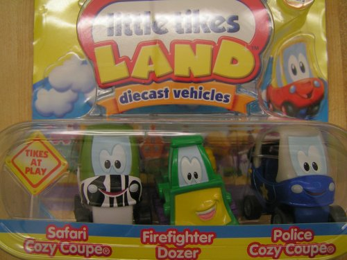 Little Tikes Land Diecast Vehicle Set: SAFARI COZY COUPE,FIREFIGHTER DOZER,POLICE COZY COUPE - Buy Little Tikes Land Diecast Vehicle Set: SAFARI COZY COUPE,FIREFIGHTER DOZER,POLICE COZY COUPE - Purchase Little Tikes Land Diecast Vehicle Set: SAFARI COZY COUPE,FIREFIGHTER DOZER,POLICE COZY COUPE (Little Tikes, Toys & Games,Categories,Play Vehicles,Vehicle Playsets)