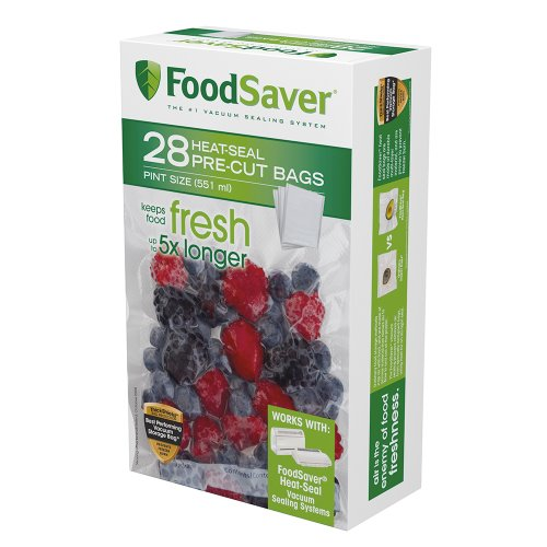 FoodSaver 28 Pint-sized Bags with unique multi layer construction, BPA free (Foodsaver Vacuum Bags Pint Size compare prices)
