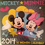 Mickey & Minnie Mouse 2014 Calendar 7 x 11 - 16 Months