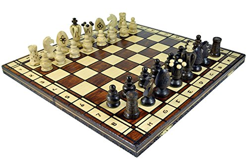 Wegiel Royal 48 European Wooden Handmade International Chess Set (Detailed Chess Set compare prices)