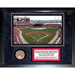 Buy Steiner Sports MLB Cincinnati Reds Great American Ballpark 11 x 14-inch Mini Dirt Collage by Steiner Sports