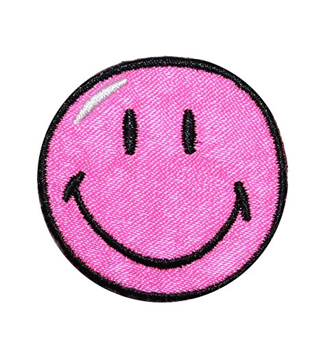 bugelbild-smiley-pink-38-cm-38-cm-aufnaher-gewebter-flicken-applikation-gesichter-smile-emotion-smil