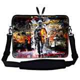 Meffort Inc 15 15.6 inch Neoprene Laptop Sleeve Bag Carrying Case with Hidden Handle and Adjustable Shoulder Strap – Soldier Design