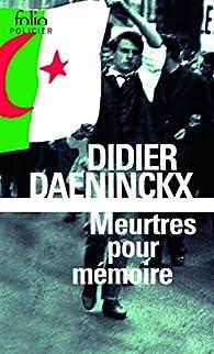 Meurtres pour m�moire par Didier Daeninckx