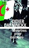 Meurtres pour m�moire par Daeninckx
