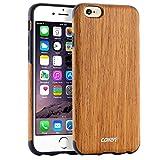 iPhone 6s Plus ケース / iPhone 6 Plus ケース, COLLEN防投げ木質携帯殻 (Santos Rose Wood)j13