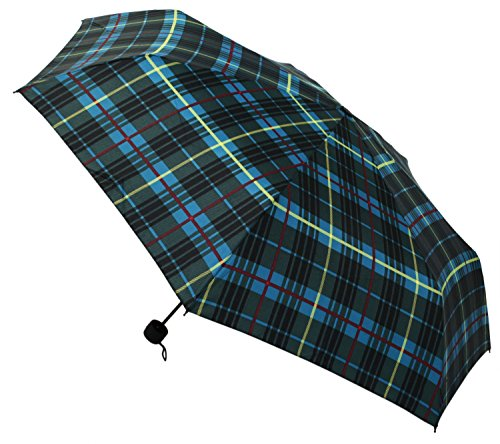【晴雨兼用】 折りたたみ傘 収納袋入 グリーンチェック ミニ 58cm MSM-001