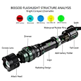 LED Flashlight 1000 Lumens Ultra Bright CREE XML T6 Tactical Torch 5-Mode Zoomable Flashlight Led