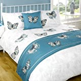 Botanic Butterfly Bed In A Bag, Teal, King