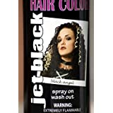 Spray On Wash Out Black Hair Color Temporary Hairspray Great For Costume or Halloween Party Stage Play Concert Rave Hair Spray (Color: Black)