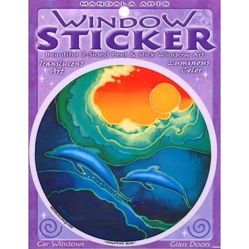 114-cm-doppelseitig-colorful-delfin-sonne-fenster-aufkleber-von-bryon-allen
