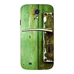 Stylish Classic Door Green Back Case Cover for Samsung Galaxy S4