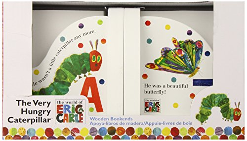 World of Eric Carle, The Very Hungry Caterpillar Wood Book Ends by Kids Preferred