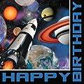 Space Blast Luncheon Napkin Happy Birthday (16) Party Supplies