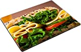 MSD Placemat Kitchen Table 15.8 x 12 x 0.2 inches Colorful breakfast concept with natural sandwich IMAGE 23491038