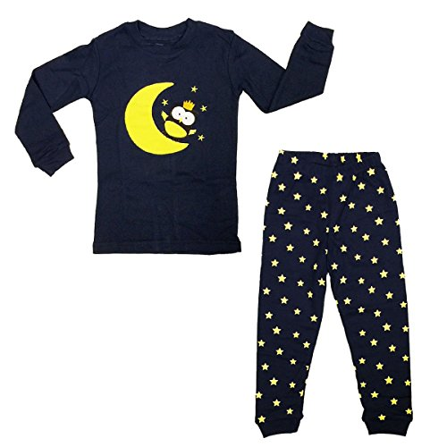 Bowbear Kids Fun and Playtime Moon with Stars Pajama Set, 3T - 4T