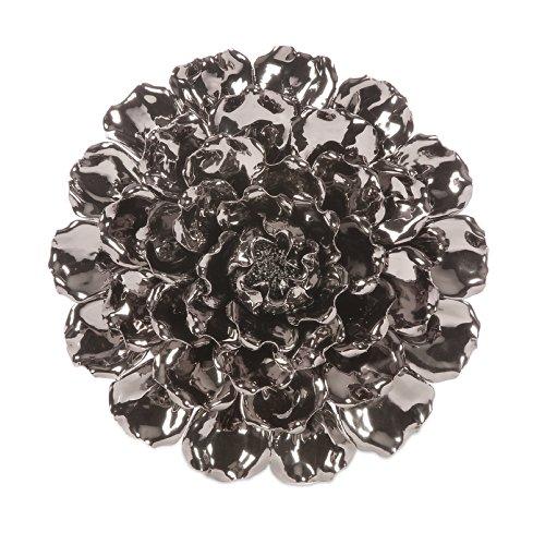 Imax 64235 Metallic Ceramic Wall Flower, Large