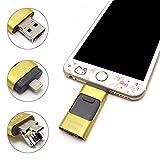 Tipmant iPhoneのUSBフラッシュドライブ 64 GB OTG フラッシュメモリスティックコンピュータiPhone&iPadのAndroidの携帯電話に対応 (64GB, ゴールド)