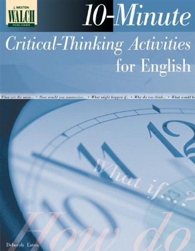 10 minute critical thinking activities for english classes answers Critical thinking worksheets for teachers used in engaging students in the advanced levels of thinking - fun activities for examining patterns.