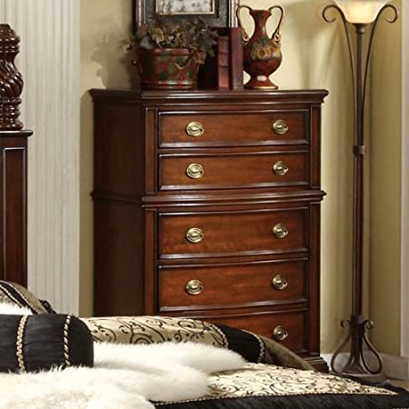 Carlsbad Solid Wood Dark Cherry Finish Bedroom Chest