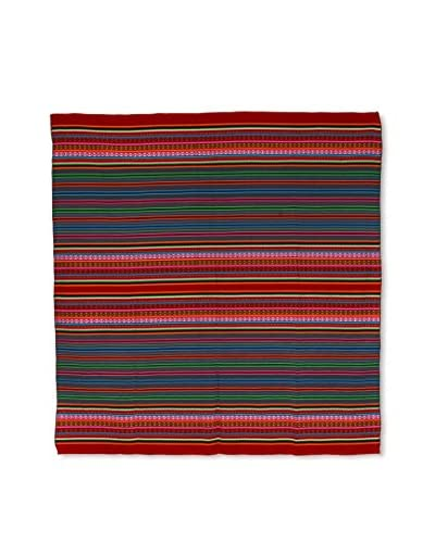 Uptown Down Found Woven Throw, Red/Multi As You See