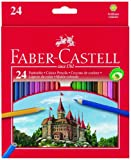 Office Product - Faber-Castell 111224 - Farbstifte CASTLE Hexagonal, 24er Kartonetui