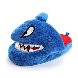Wiggle Warms Sheldon the Shark Kids Scuff Slippers (L 2/3 M US Little Kid)