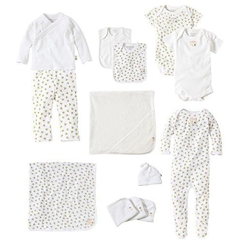 Burt's Bees Baby Baby 13-Piece Every Day Essentials Bundle, Cloud, 3-6 Months