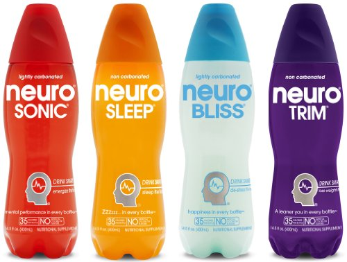 Neuro Nutritional Supplement Drink, Variety Pack, 14.5-Ounce Bottles (Pack of 12)