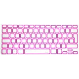 "MiNGFi Clavier Coque de Protection / Couverture pour MacBook Pro 13"" 15"" 17"" et Air 13"" EU/ISO Keyboard Disposition Silicone Skin - Rose / Pink Rim"