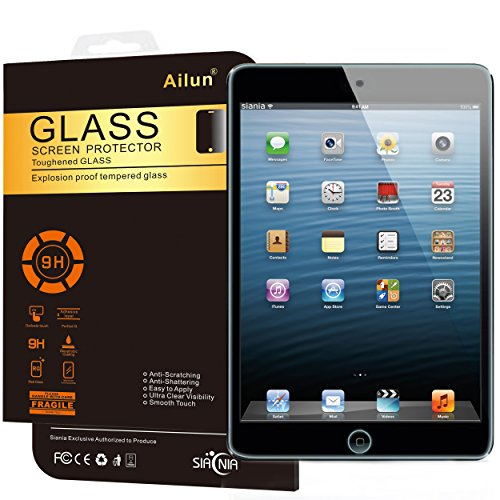 iPad Air Screen Protector,by Ailun,Tempered Glass,for Apple iPad Air 1/2 Generation,9H Hardness,2.5D Curved Edge,Ultra Clear,Bubble Free,Anti-Scratch&Fingerprints&Oil Stains,Case Friendly primary