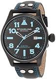 Stuhrling Original Men's 141.33551 Eagle Sportsman's Collection Swiss Quartz Black Dial Watch