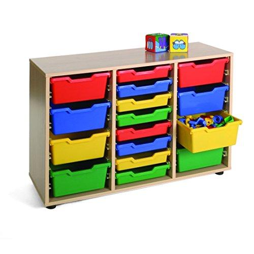 dreireihiger Schrank Kidz Pro mit Materialboxen