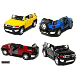 "Set of 4: 5"" Toyota FJ Cruiser 1:36 Scale (Black/Blue/Red/Yellow)"