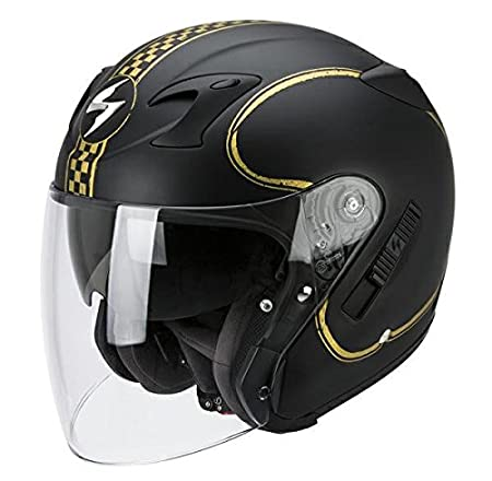 Casque de moto SCORPION EXO Bixby 220 or noir