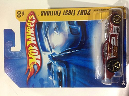 Hot Wheels 2007 First Editions Nitro Doorslammer Red #003/156 International Card - 1
