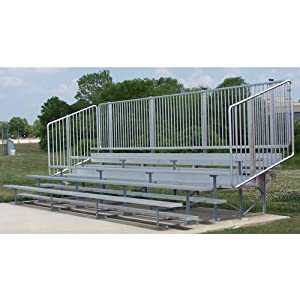 Bleacher 5r 58s 21 Waisle Vert Rail Item Number 1196542 Sold Per Each from NATIONAL RECREATIONA