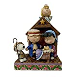Jim Shore for Enesco Peanuts Christmas Pageant Figurine, 7.5-Inch