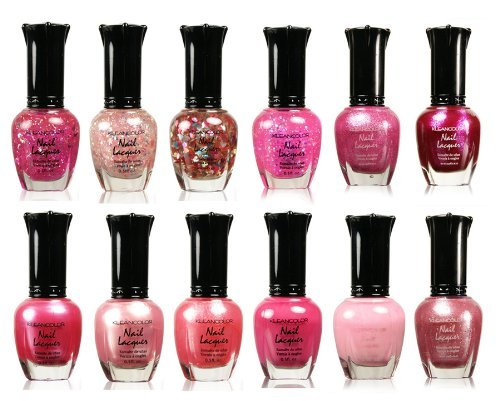 Kleancolor Collection - Awesome Pink Colors Assorted Nail Polish 12pc Set (Nail Polish Favors compare prices)