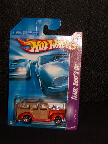 Hot Wheels 2008 118 Team: Surf's Up # 2 of 4 Reddish Copper '40s Woodie 1:64 Scale - 1