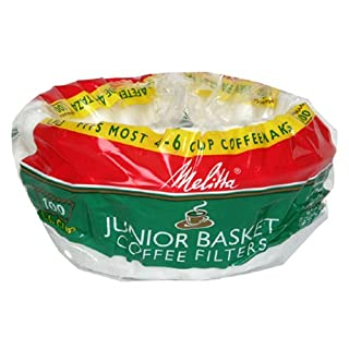 Melitta JuniorCoffe Filters, 4-6 cup,100-Count (Pack of 24)
