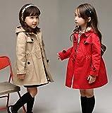 【ノーブランド品】 子供服 取り外し可能 フード付き コート /ヘアアクセサリー付き