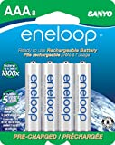 eneloop AAA 1800 cycle, Ni-MH Pre-Charged Rechargeable Batteries, 8 Pack