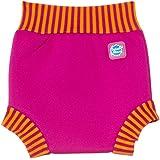 Splash About - La Couche Bebe Bain (Happy Nappy): Rose avec côte Rose et orange, XL (environ 12-24 mois)