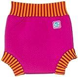 Splash About Kids Reusable Swim Happy Nappy - Pink/Mango Stripe Rib, Medium, 3-8 Months