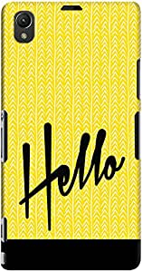 DailyObjects Hello Yello Case For Sony Xperia Z1