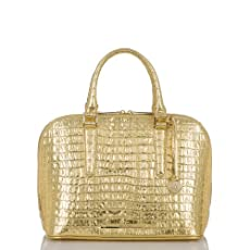 Vivian Dome Satchel<br>Gilt La Scala