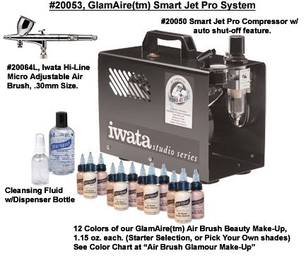 GlamAire (tm) Smart Jet Pro Beauty Air Brush System