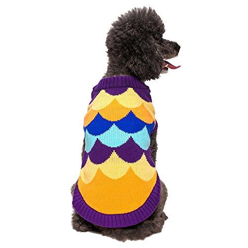 Blueberry Pet 12-Inch Waves Designer Dog Sweater, Medium, Dark Orchid front-938347